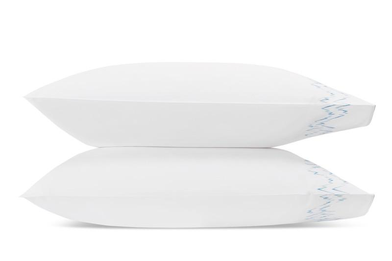 Aries Azure Pillowcases | Matouk at Fig Linens