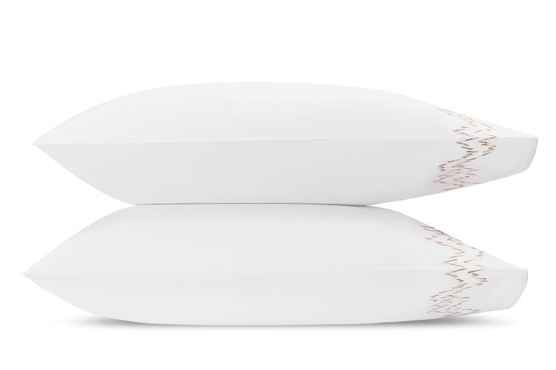 Aries Champagne Pillowcases | Matouk at Fig Linens