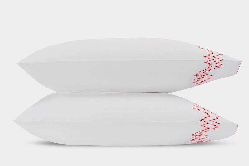 Aries Coral Pillowcases | Matouk at Fig Linens