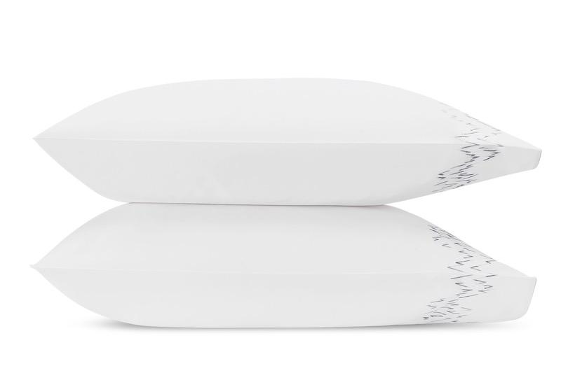 Aries Wave Pillowcases | Matouk at Fig Linens