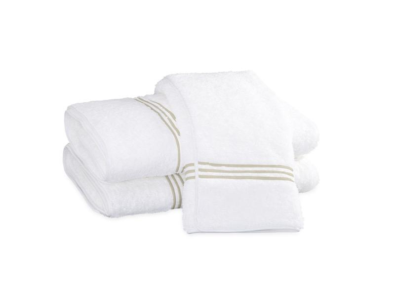 Bel Tempo Almond Bath Towels | Matouk at Fig Linens
