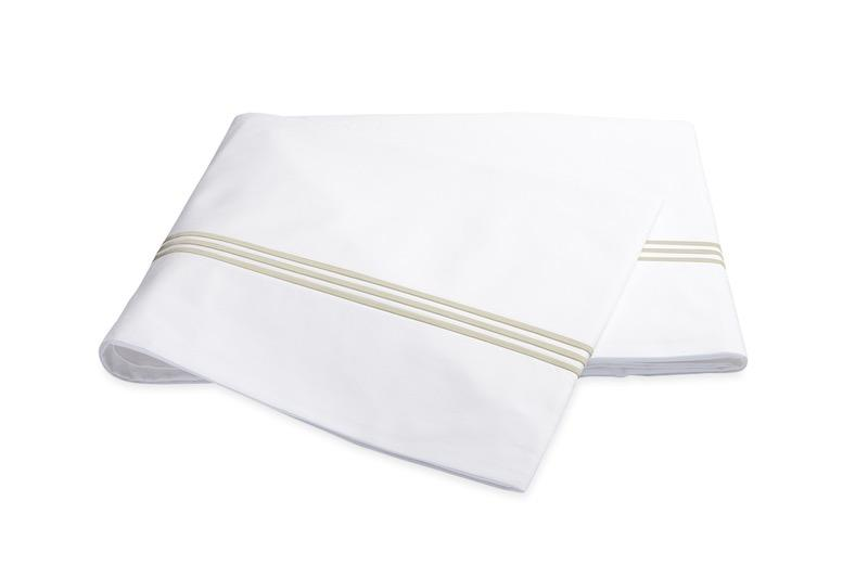 Bel Tempo Almond Flat Sheet | Matouk at Fig Linens