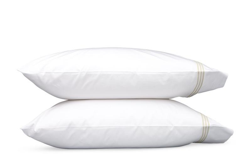 Bel Tempo Almond Pillowcases | Matouk at Fig Linens