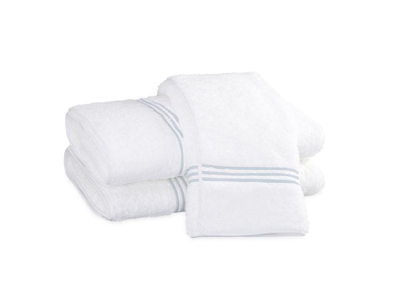 Bel Tempo Blue Bath Towels | Matouk at Fig Linens