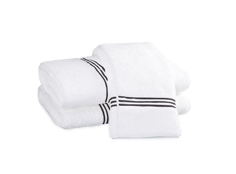 Bel Tempo Charcoal Bath Towels | Matouk at Fig Linens