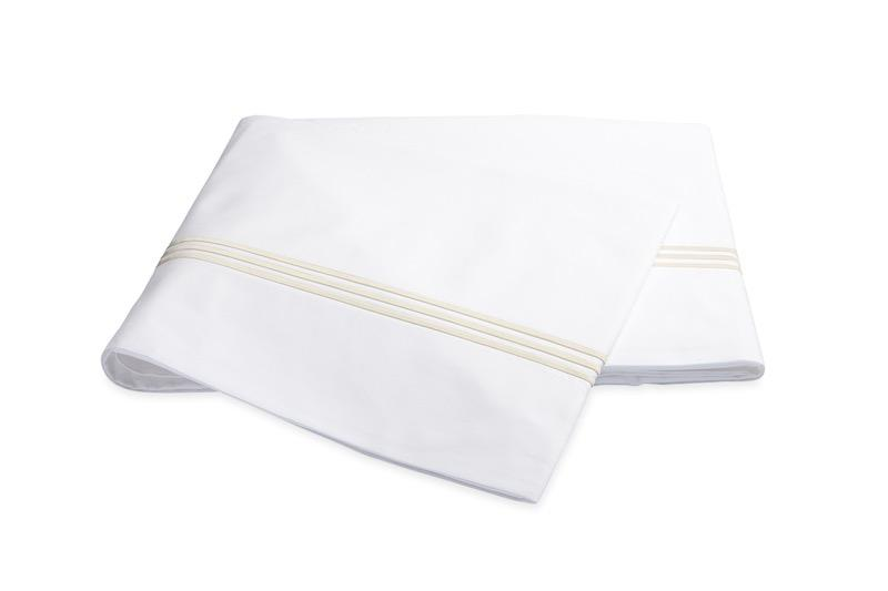 Bel Tempo Ivory Flat Sheet | Matouk at Fig Linens