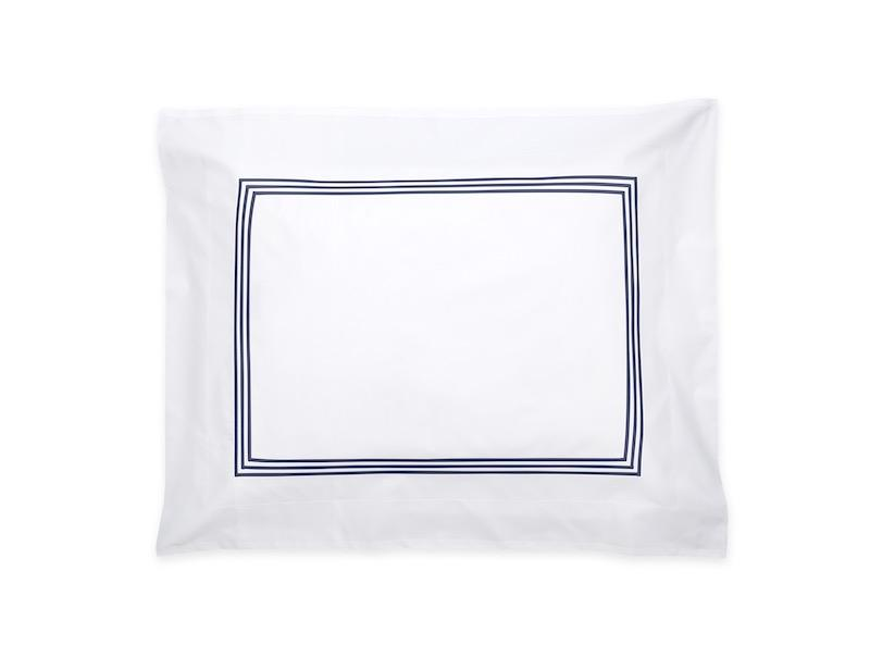 Bel Tempo Navy Blue Sham | Matouk at Fig Linens