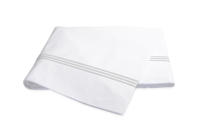 Bel Tempo Silver Flat Sheet | Matouk at Fig Linens