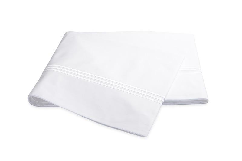 Bel Tempo White Flat Sheet | Matouk at Fig Linens