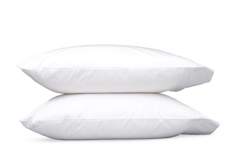 Bel Tempo White Pillowcases | Matouk at Fig Linens