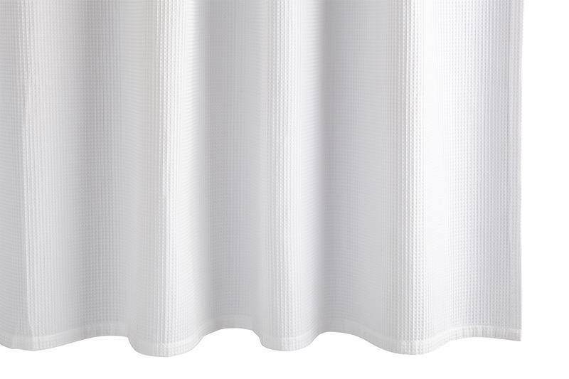 Matouk White Belgian Waffle Shower Curtain | Fig Linens and Home
