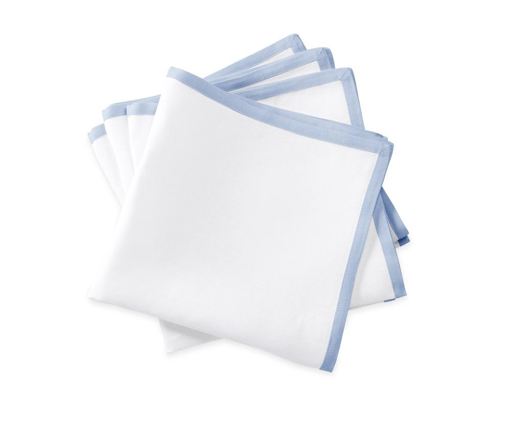 Matouk Napkins | Casual Couture Border Napkin in Ice Blue