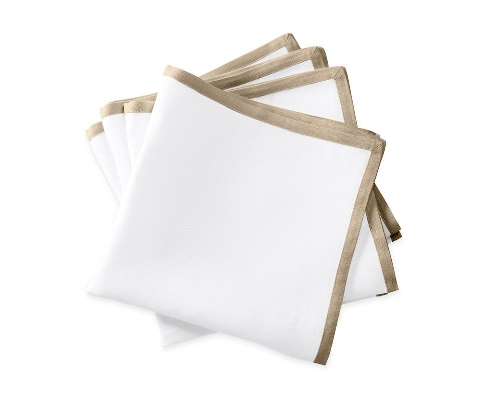 Matouk Napkins | Casual Couture Border Napkin in Oat