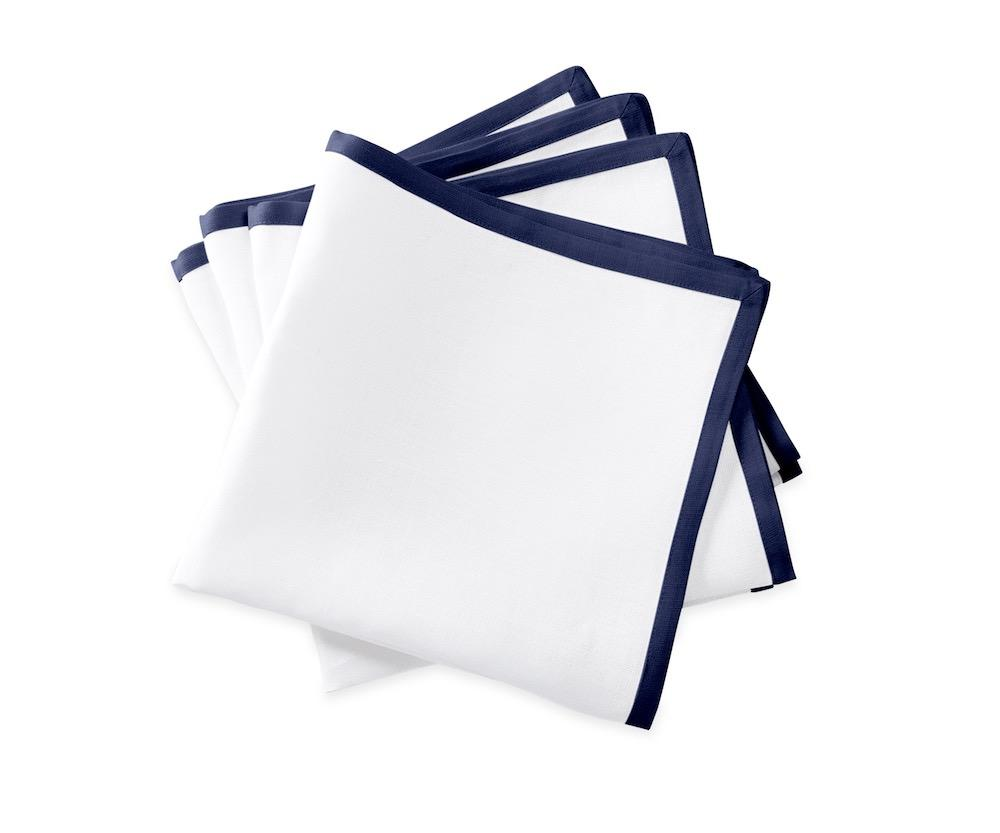 Matouk Napkins | Casual Couture Border Napkin in Sapphire Blue