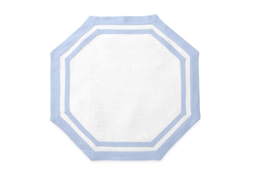 Octagon Placemat in Ice Blue | Casual Couture by Matouk