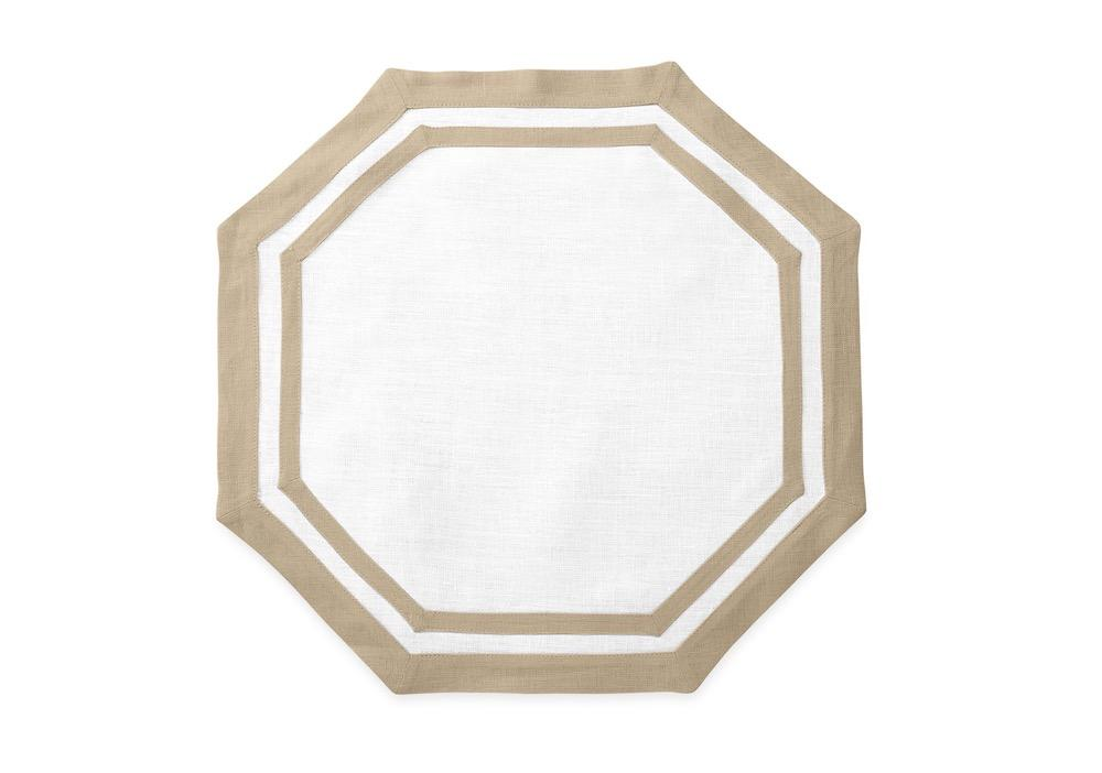 Matouk Table Linens | Casual Couture Octagonal Placemat in Oat