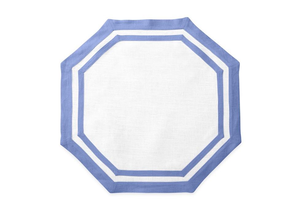 Matouk Table Linens | Casual Couture Octagonal Placemat in Sky Blue