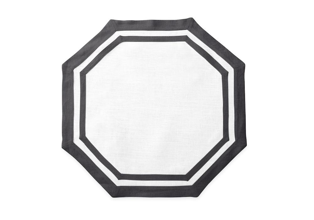 Octagon Placemat in Smoke Grey | Casual Couture by Matouk