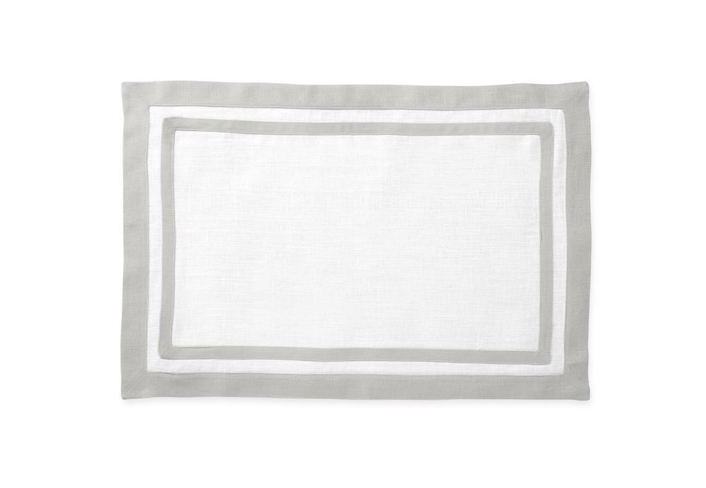 Matouk Table Linens | Casual Couture Rectangle Placemat in Classic Grey