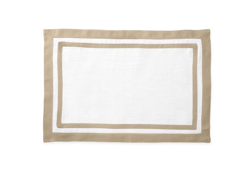 Matouk Table Linens | Casual Couture Rectangle Placemat in Oat