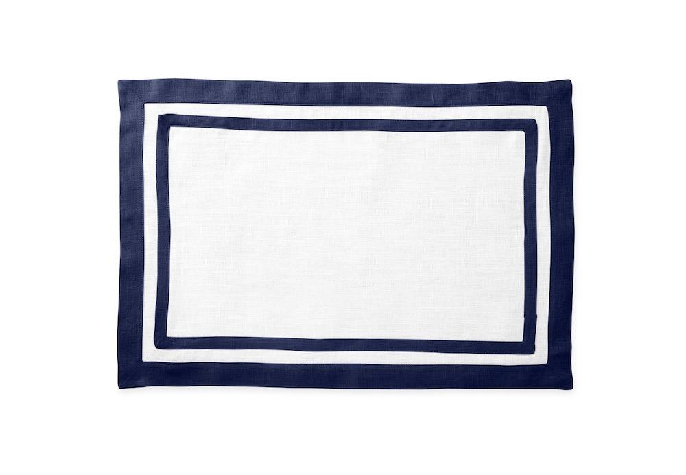 Matouk Table Linens | Casual Couture Rectangle Placemat in Sapphire Blue