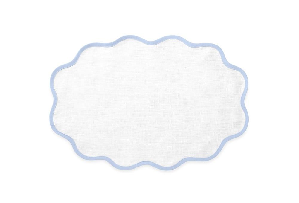 Matouk Table Linens | Casual Couture Scallop Placemat in Ice Blue