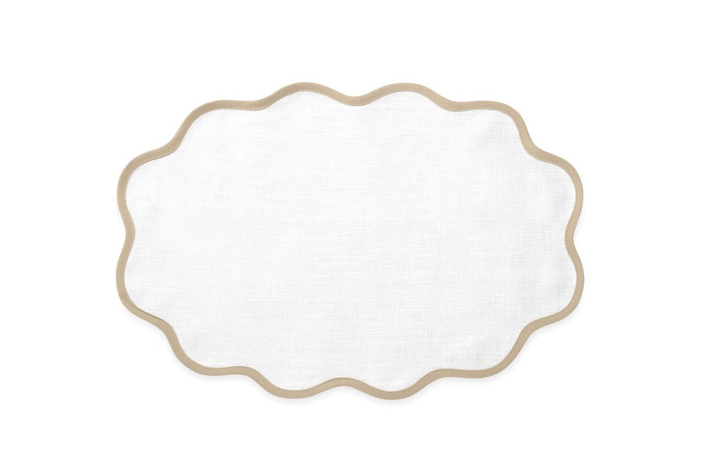 Matouk Table Linens | Casual Couture Scallop Placemat in Oat