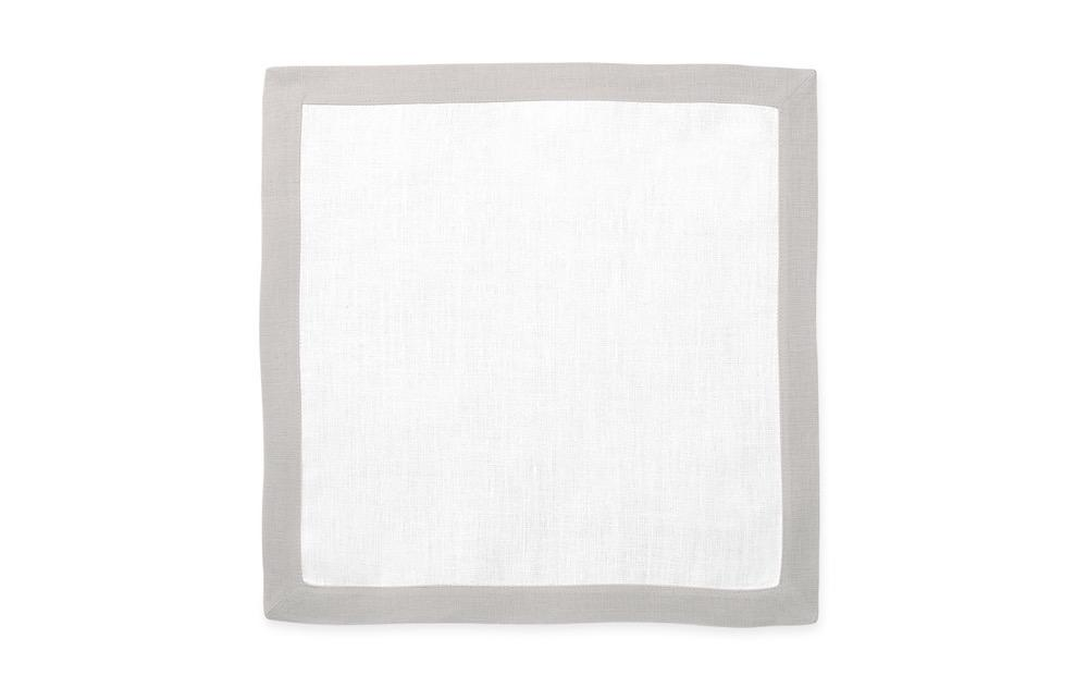 Matouk Table Linens | Casual Couture Square Placemat in Classic Grey