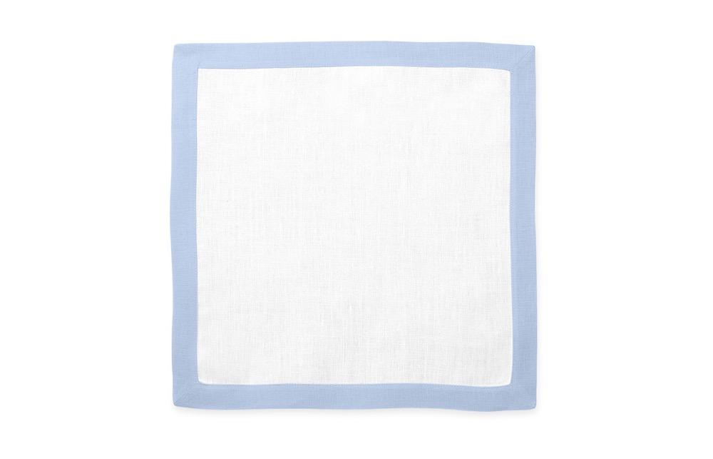Matouk Table Linens | Casual Couture Square Placemat in Ice Blue
