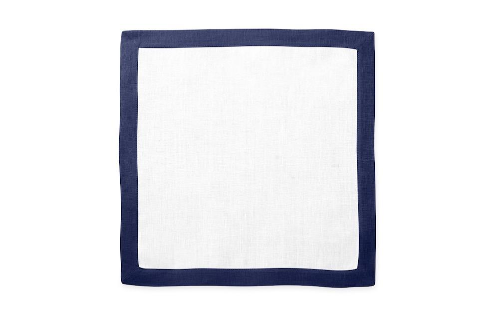 Matouk Table Linens | Casual Couture Square Placemat in Sapphire Blue