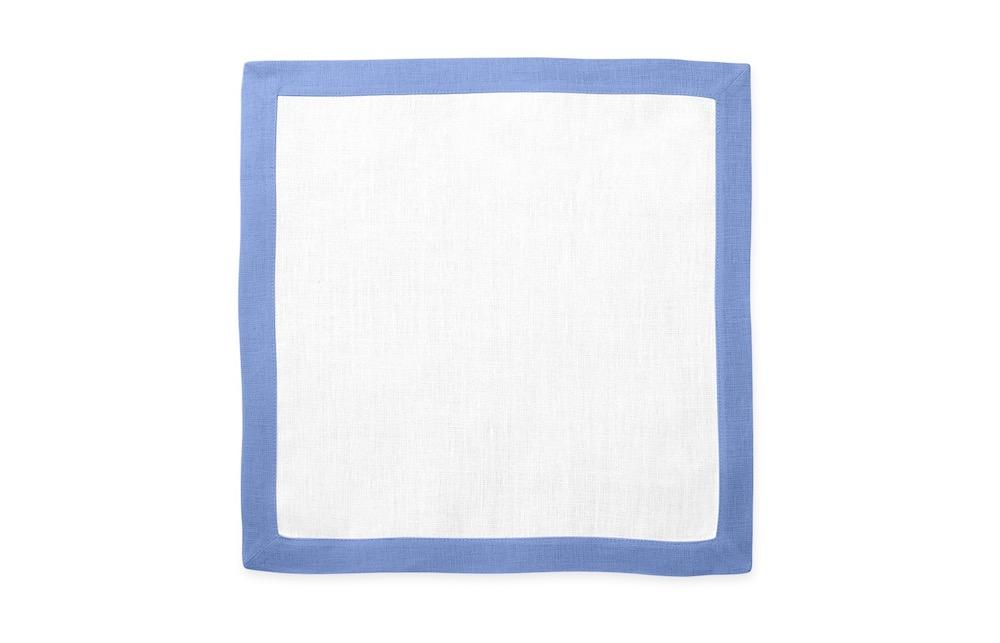 Matouk Table Linens | Casual Couture Square Placemat in Sky Blue