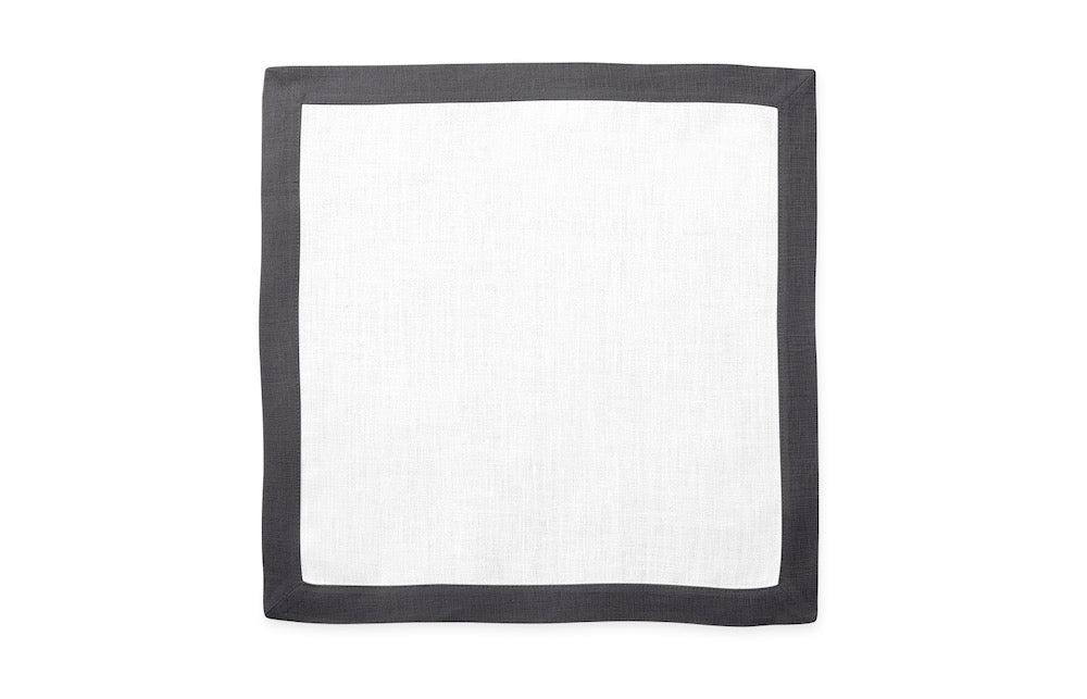 Matouk Table Linens | Casual Couture Square Placemat in Smoke Grey