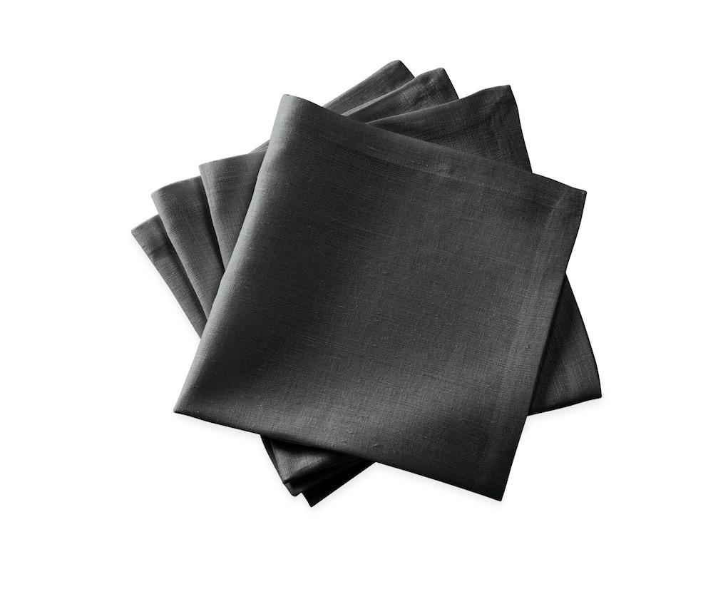 Chamant Charcoal Cocktail Napkins | Matouk at Fig Linens