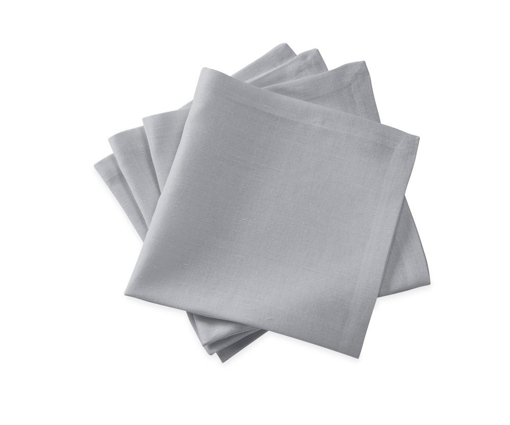Chamant Silver Cocktail Napkins | Matouk at Fig Linens