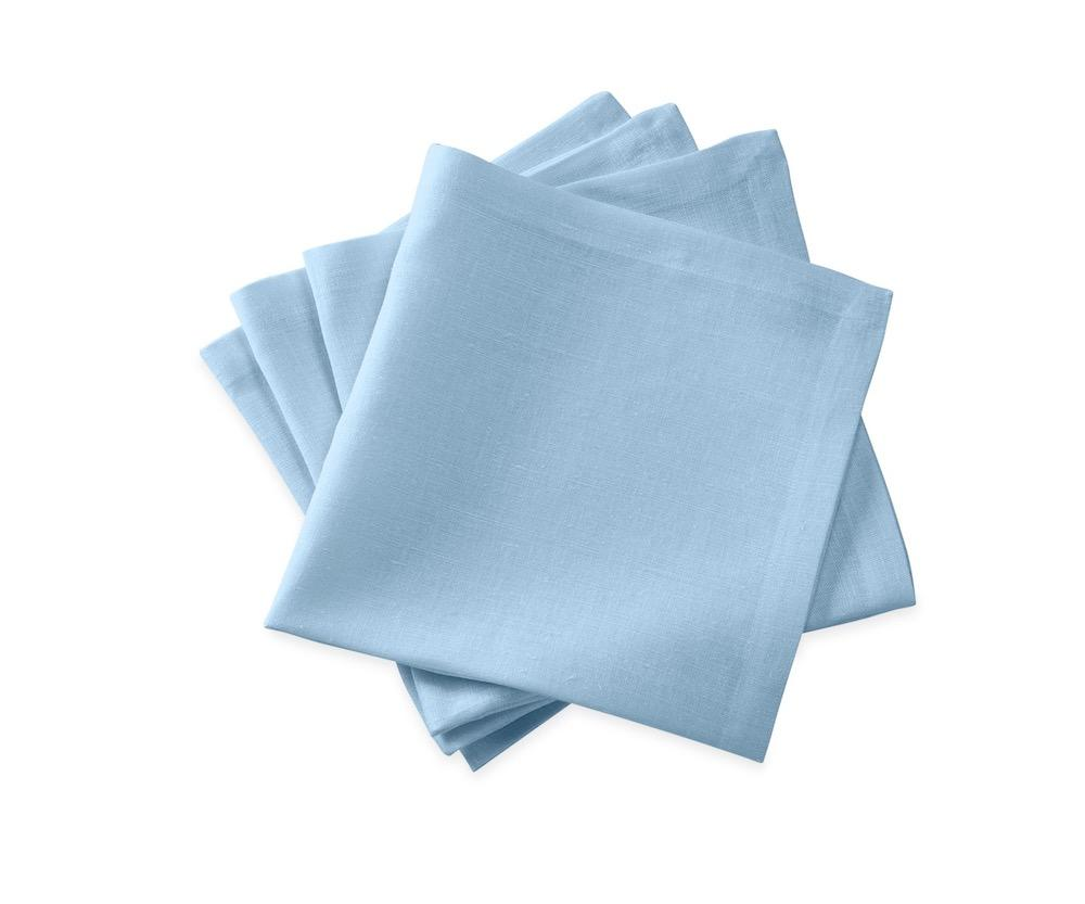 Chamant Sky Blue Cocktail Napkins | Matouk at Fig Linens