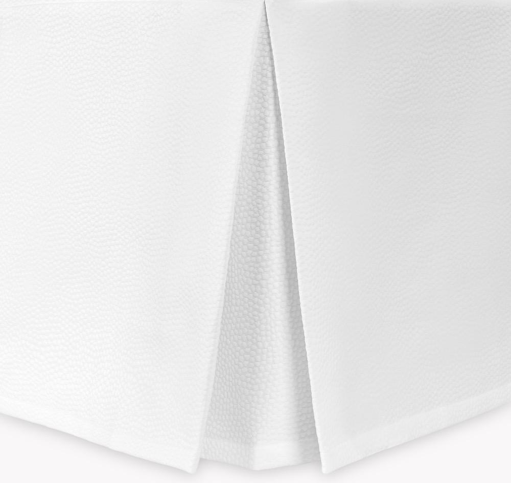 Eden White Matelasse Bedskirts | Matouk at Fig Linens