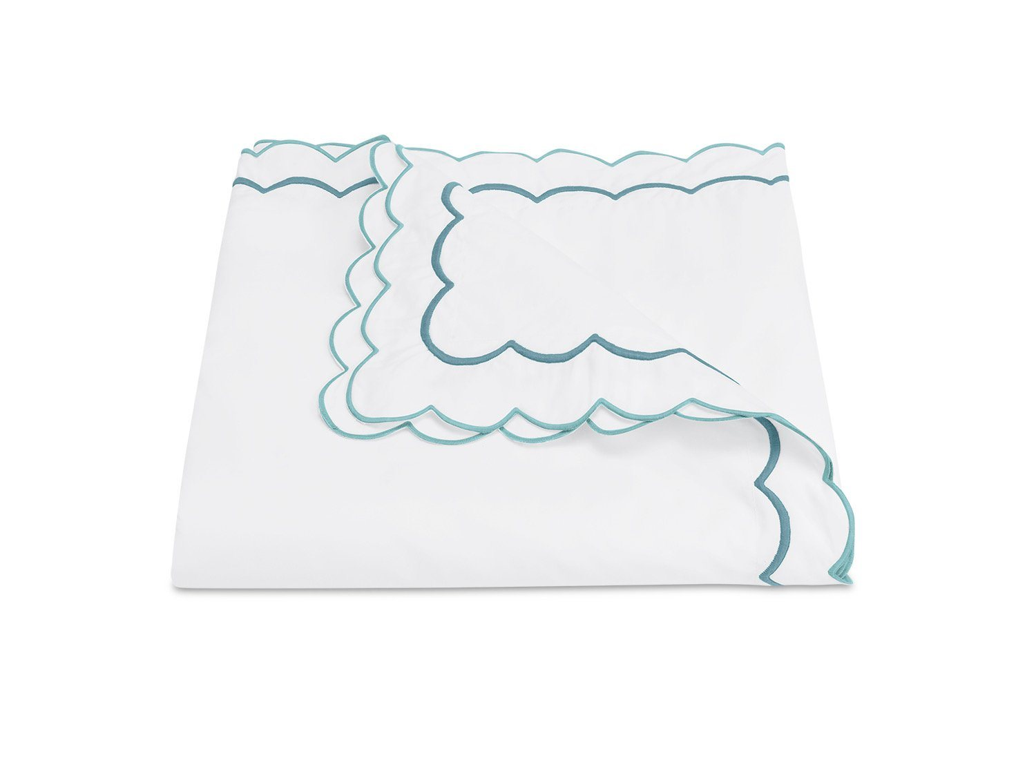 India Cerulean Duvet Cover by Matouk Fine Linens