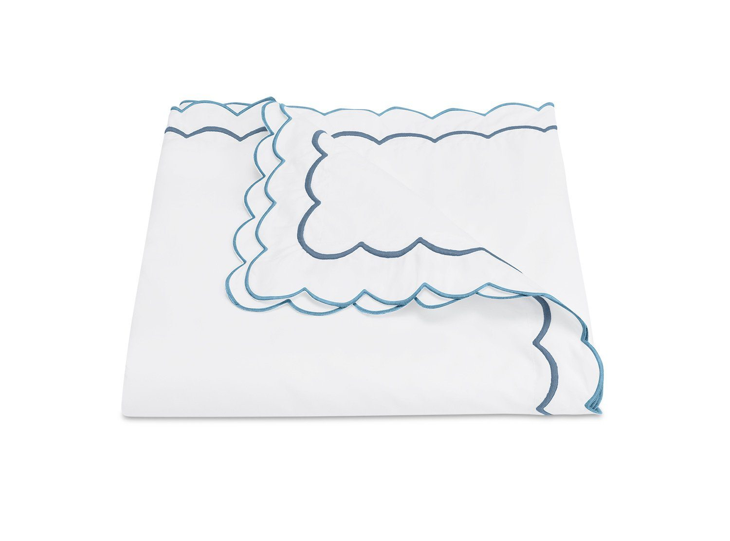 India Hazy Blue Duvet Cover by Matouk Fine Linens