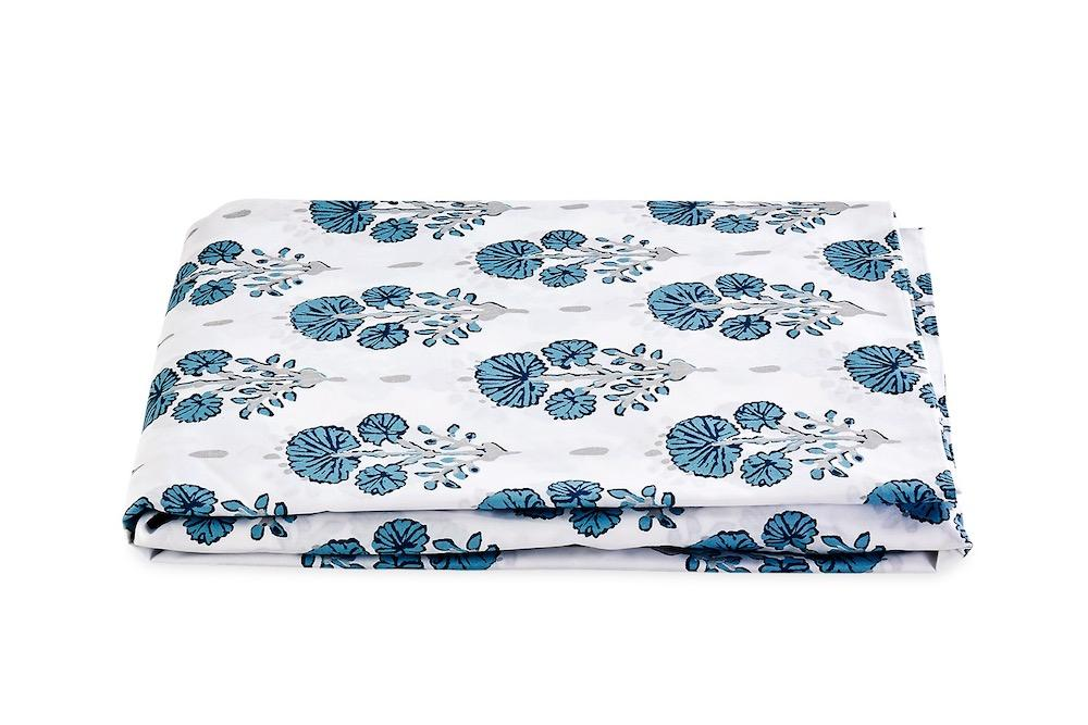 Joplin Mineral Blue Fitted Sheet | LULU DK Matouk at Fig Linens