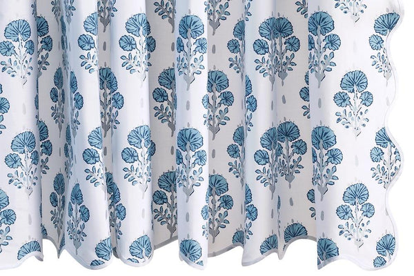 Shower Curtain - Joplin Mineral Blue by Matouk | Lulu DK at Fig Linens and Home