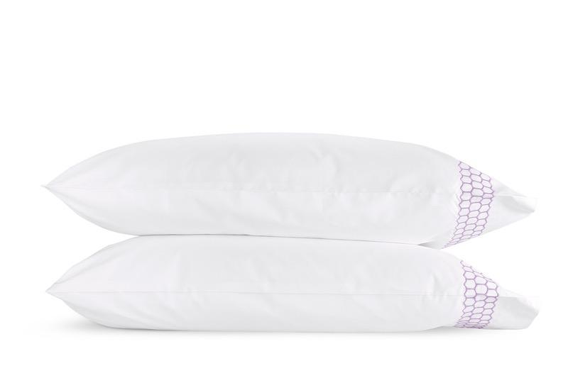 Matouk Liana Lavender Pillowcases | Fig Linens