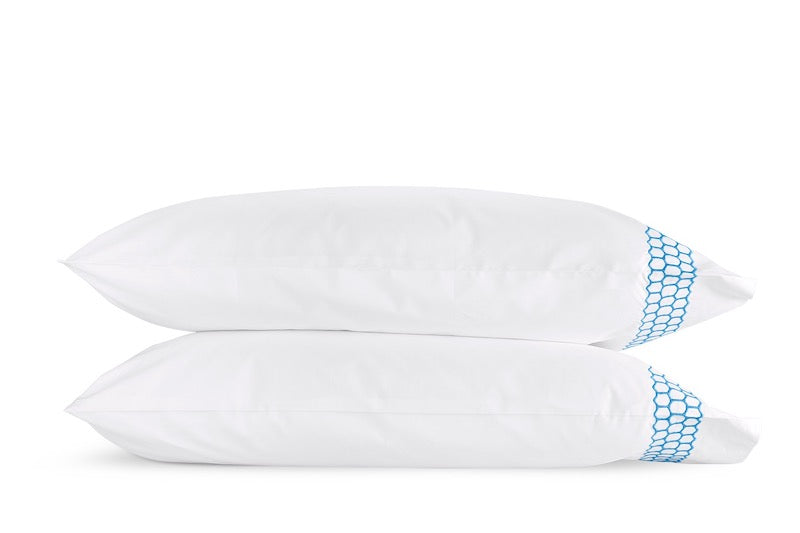 Matouk Liana Ocean Pillowcases | Fig Linens