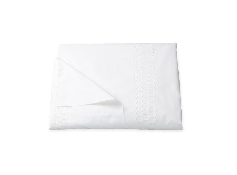 Matouk Liana White Duvet Cover | Fig Linens