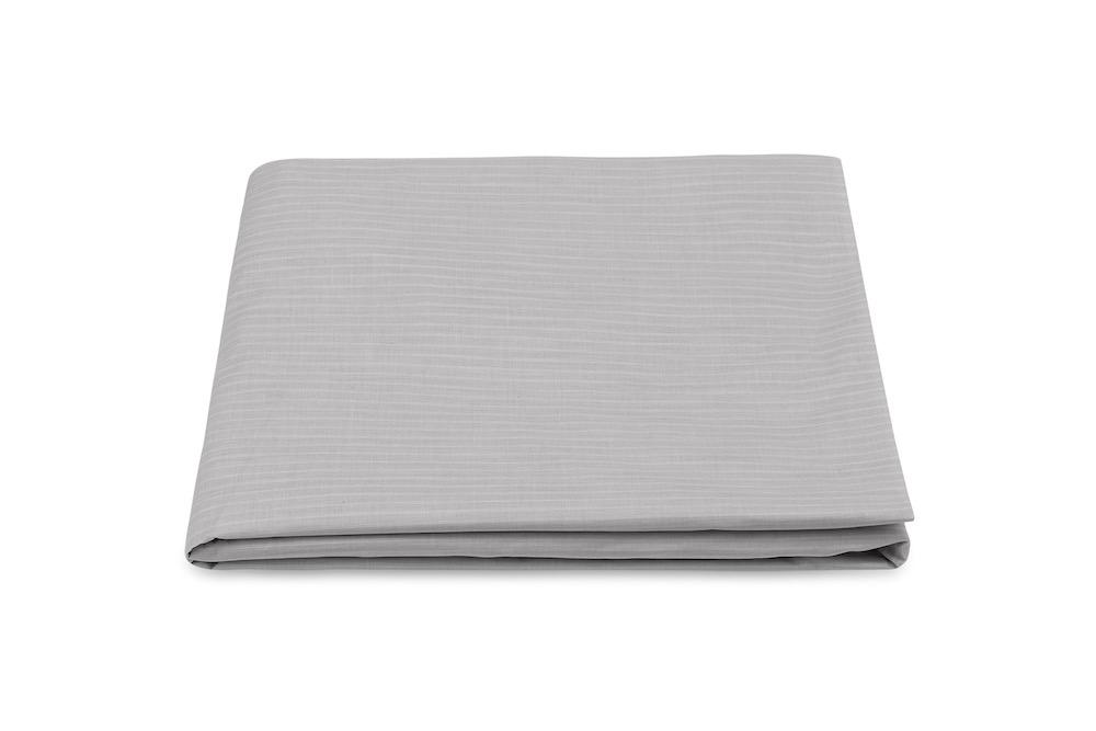 Lorenzo Charcoal Fitted Sheet | Matouk at Fig Linens