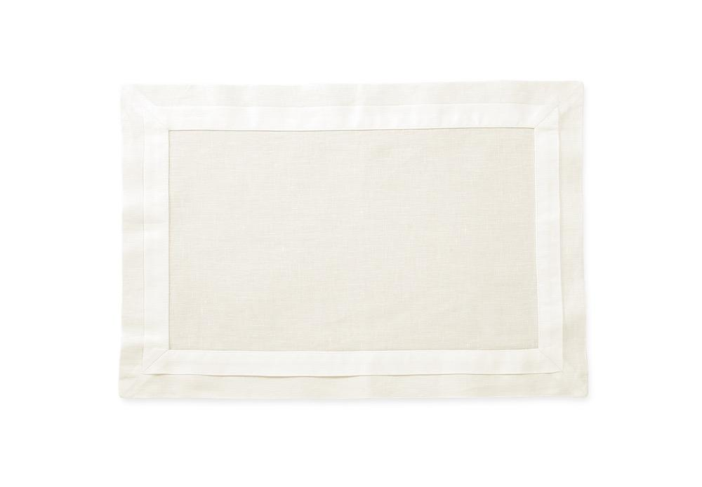 Lucerne Ivory Placemat | Matouk Table at Fig Linens and Home