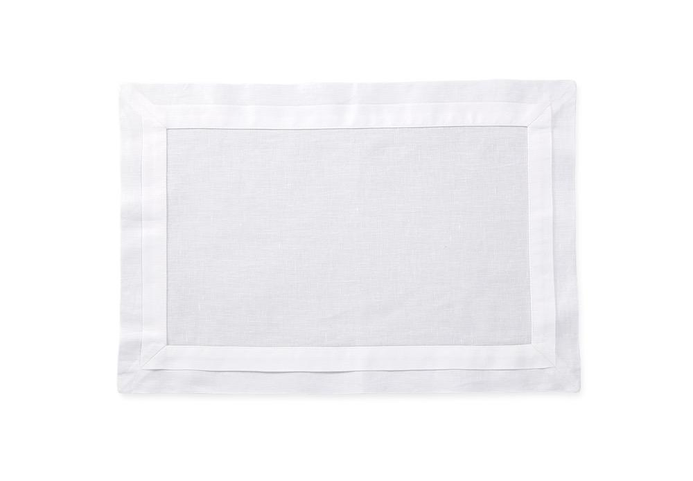 Lucerne White Placemat | Matouk Table at Fig Linens and Home