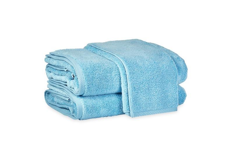 Matouk Milagro Towels in Cerulean | Fig Linens