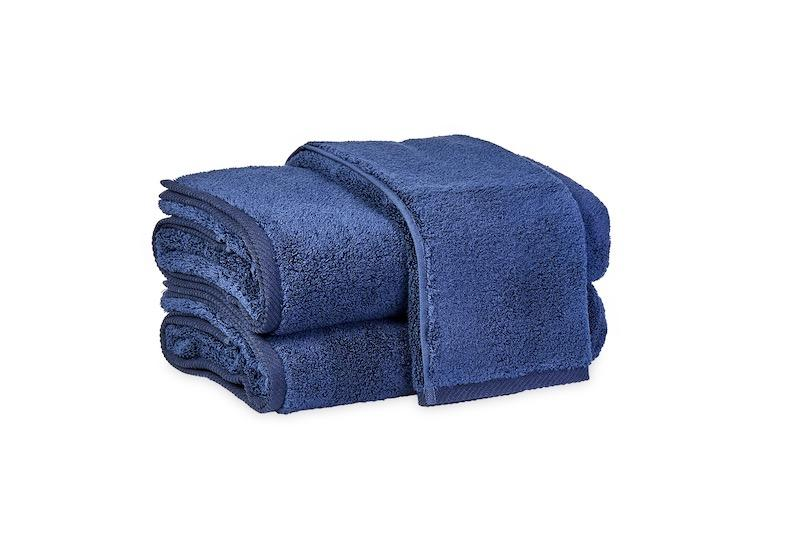 Matouk Milagro Towels in Navy | Fig Linens