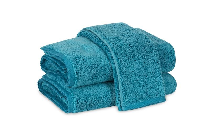 Matouk Milagro Towels in Peacock | Fig Linens