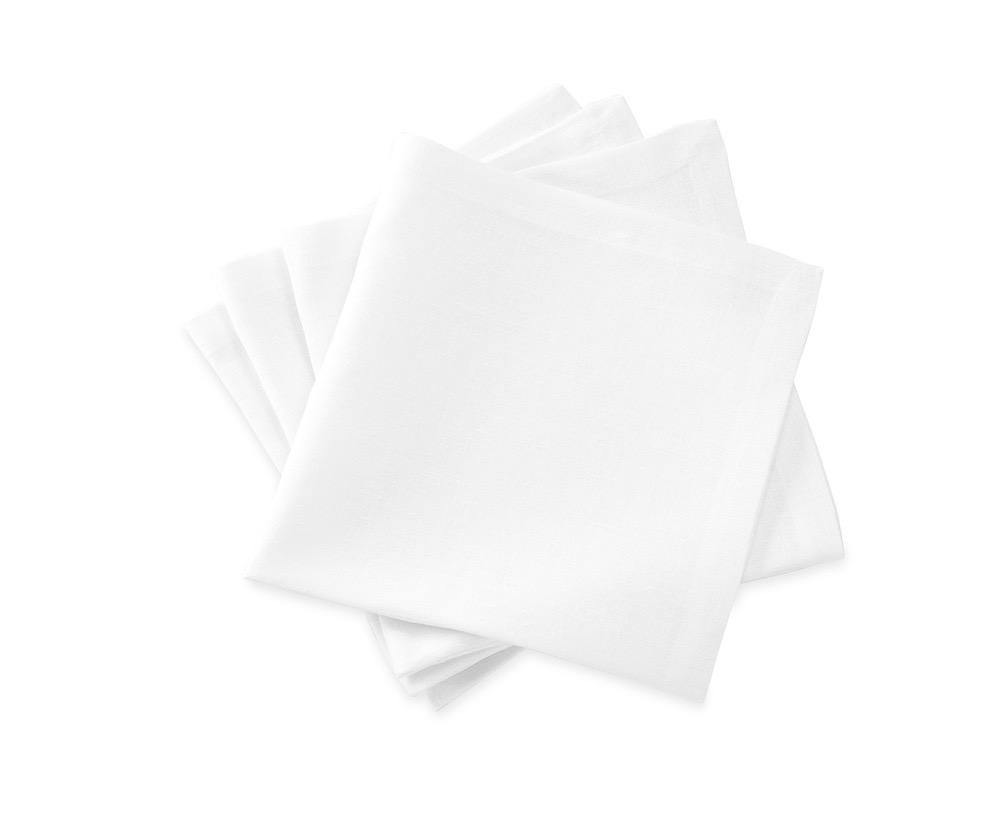 Chamant White Napkins | Matouk at Fig Linens